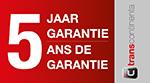 Garantie: 5 jaar (naregistratie)